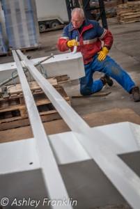 Heage Windmill Sail Restoration - Feb 2016 42