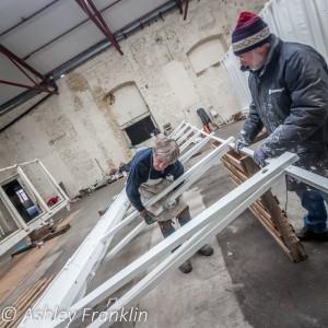 Heage Windmill Sail Restoration - Feb 2016 9